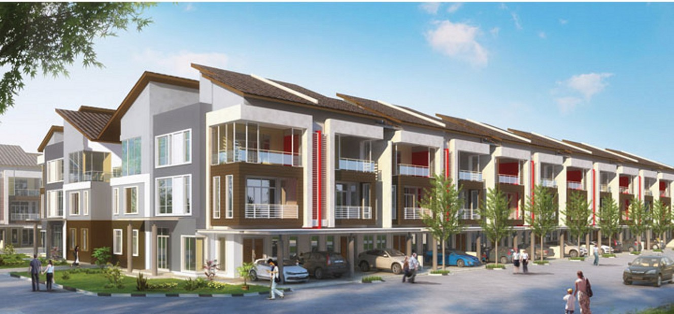 Teobros laksamana business centre town area for 3 storey terrace house