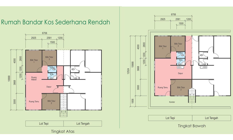 Rumah Bandar Kos Sederhana Rendah