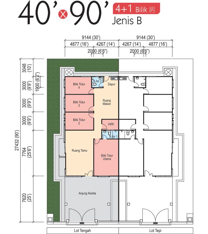 5600 Gambar Pelan Rumah 3 Bilik Terbaru